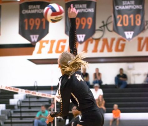 JV Orange Volleyball Defeated By Hays 2-0