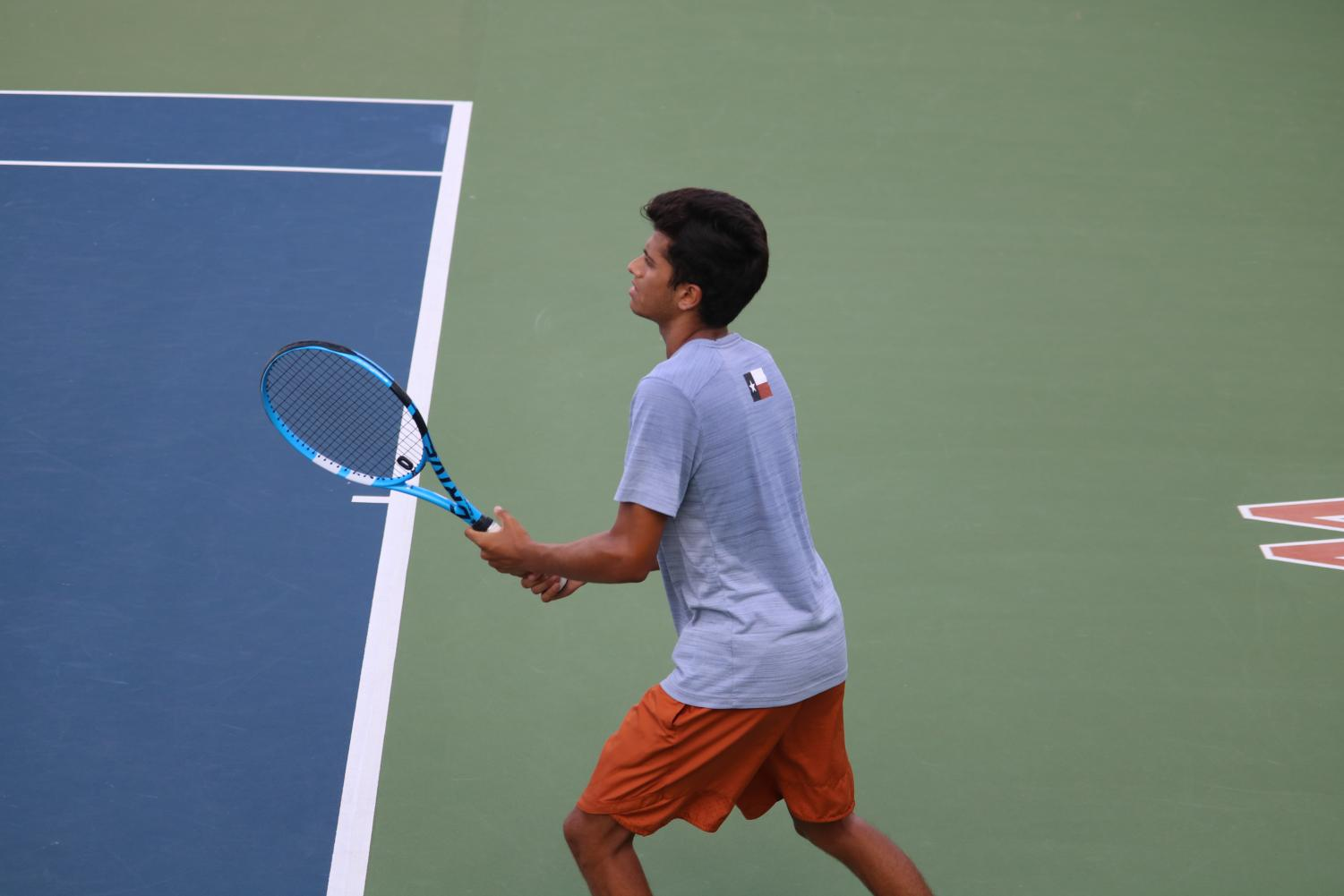 Varsity+Tennis+Clinches+12-7+Win+Against+The+Woodlands