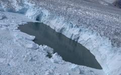 Icelandic Glacier Melts Due to Climate Change