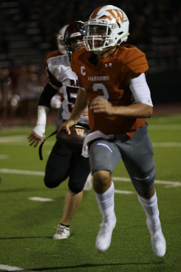 Quarterback RJ Martinez 21 sprints, in order to gain fewer yards and score a touchdown.