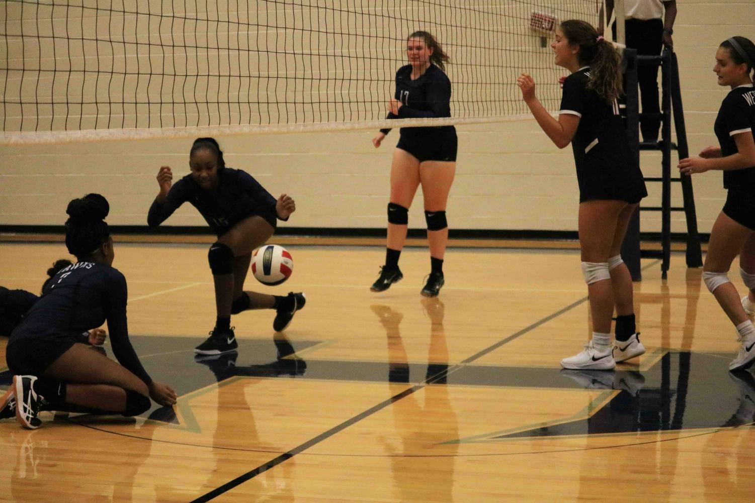 JV+White+Volleyball+Crushes+Hendrickson+2-0
