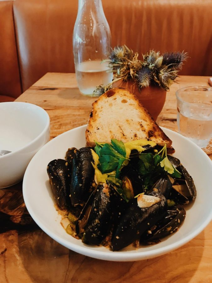 The delectable Pei Mussels are a treat to eat.