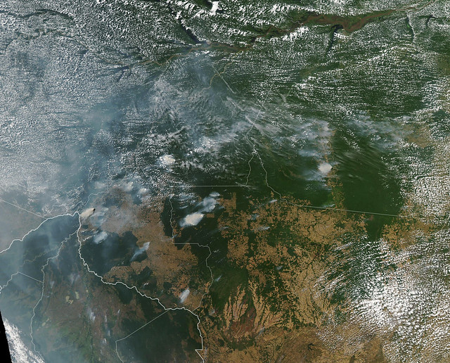 NASA satellites showing smoke from the Amazon Rainforest fires drew international attention to the issue.