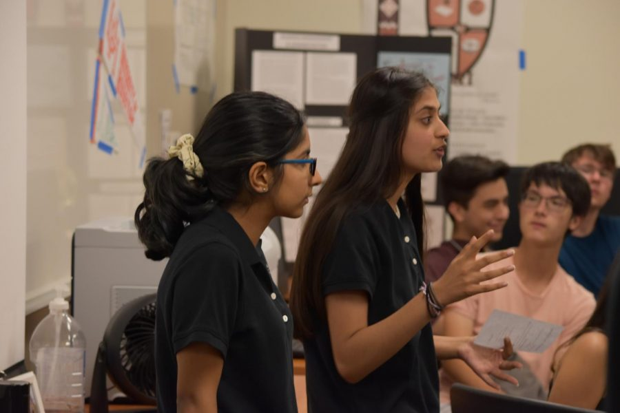 Talking to the Business & Industry academy, Governing Team members Vani Shah 20 and Sakshi Dhavalikar 21 talk about upcoming events.