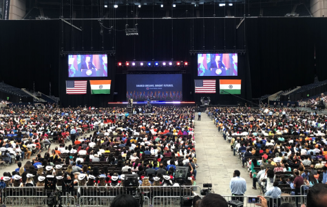 Students Attend Howdy Modi Rally