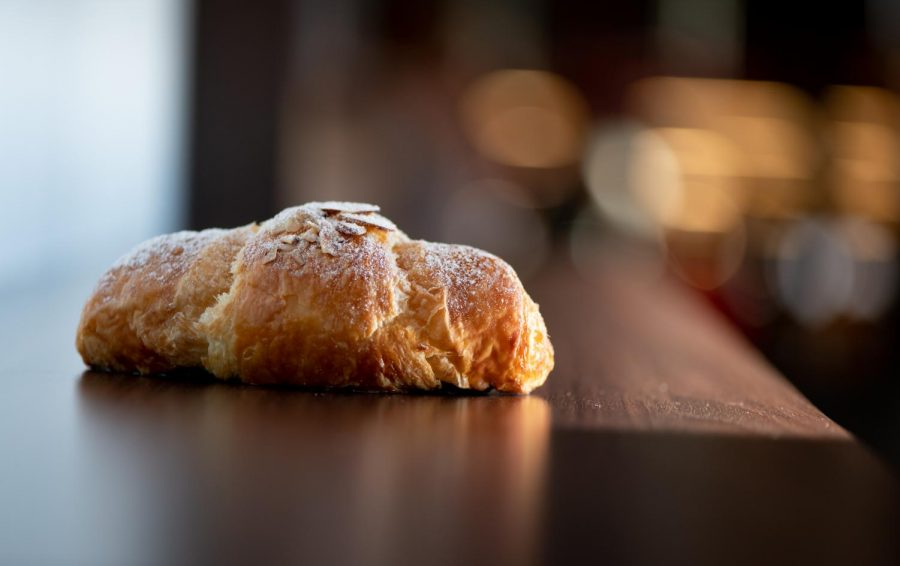 The almond croissant at 85 Degrees had a unique flaky taste.