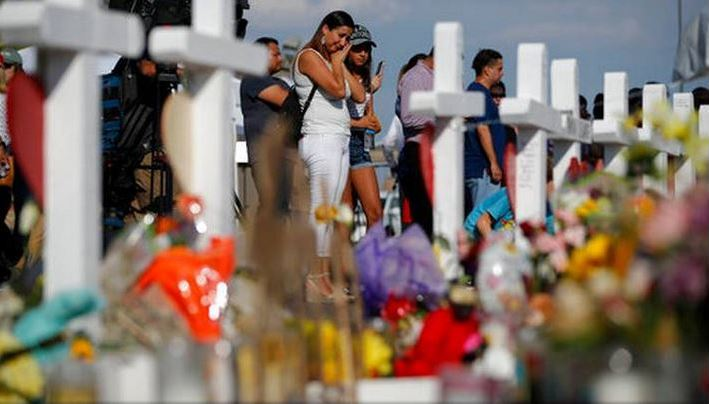 Prior to the tragedy in Odessa, Texans mourn the first shooting of the same month on Aug. 6 in El Paso.