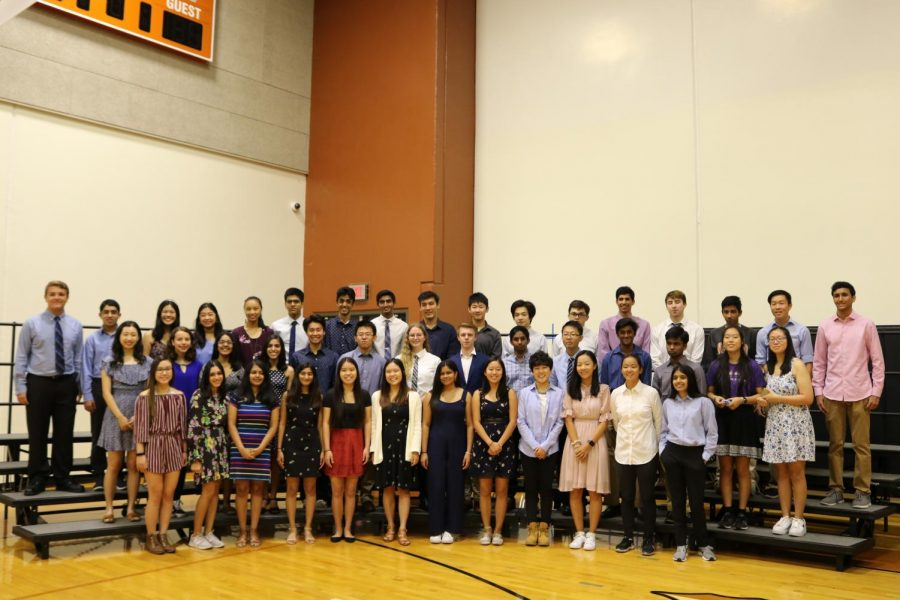 44 National Merit Scholars were recognized at a special breakfast in the gym on Sept. 12.