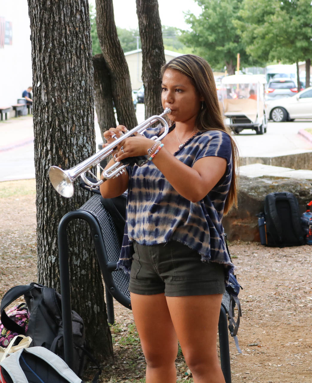 Sophia+Castaneda+%2720+plays+Taps+on+the+trumpet.+Even+though+she%27s+not+in+JROTC%2C+she+was+asked+to+play+for+the+ceremony.+%22I%27m+really+happy+I+could+be+a+part+of+it+and+it+was+such+an+honor%2C%22+Castaneda+%2720+said.