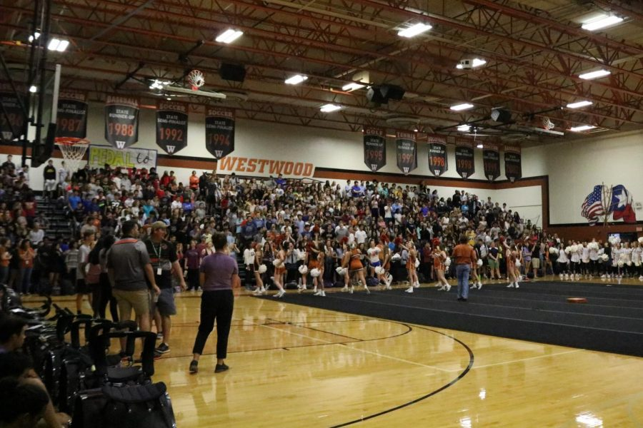 The first pep rally of the school year was a success. It was a full house with the Warriors turning out and being loud and cheerful as always.