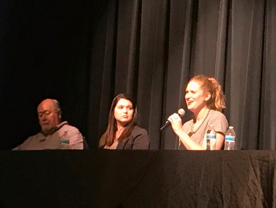 Rhodes College Director of Admissions Ms. Katie Frink enthusiastically tells the audience about what she looks for most in a resume.