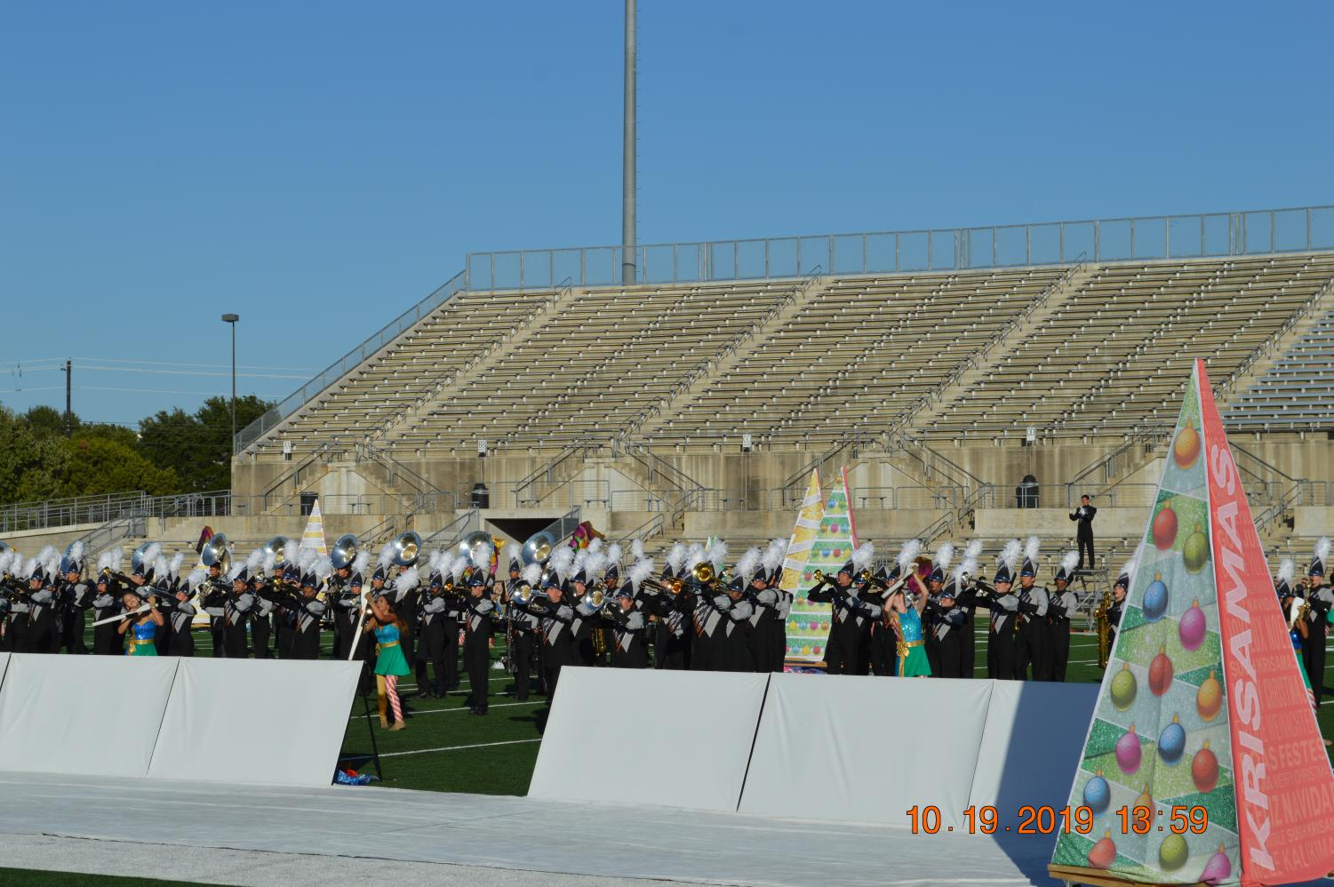 The+Westwood+Marching+Band+continues+into+playing+a+newer+part+of+their+show%2C+Part+Six.