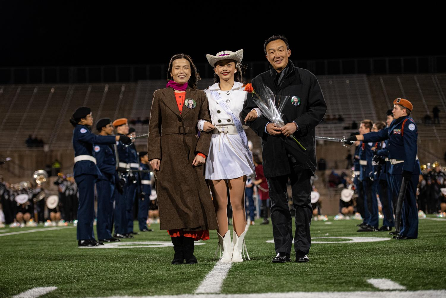 Homecoming+Queen+Ashley+Zhang+%2720+stands+in+front+of+the+Westwood+student+body+and+faculty.+Homecoming+queen+was+crowned+by+Westwood+alumni+and+2017+homecoming+queen.
