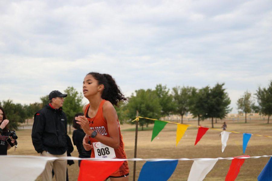 Priya Gangadharan 23' sprints to the finish.