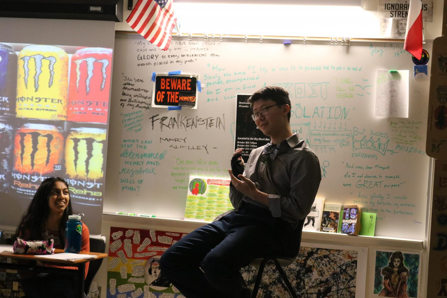 In+an+attempt+to+show+how+much+of+a+monster+the+drink+%22Monster%22+is%2C+Carson+Wang+%2720+shows+his+stiff+hand.++He+explains+that+the+amount+of+sugar+in+the+drink+causes+crazy+things+to+happen+like+this.