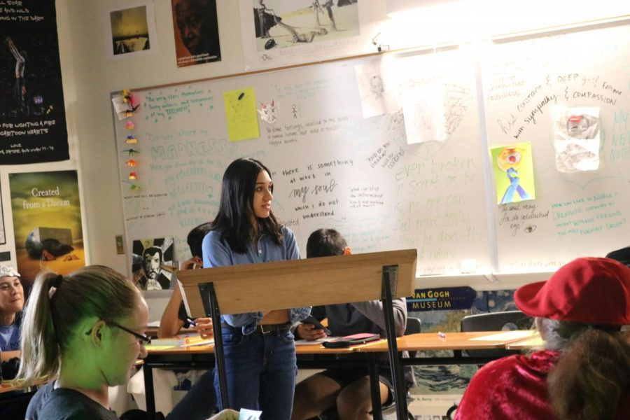 Riya Shah '20 interrogates Dr. Nefario who is a witness for Gru. Shah emphasizes that Gru was a loving father, so he couldn't have been the most evil monster.