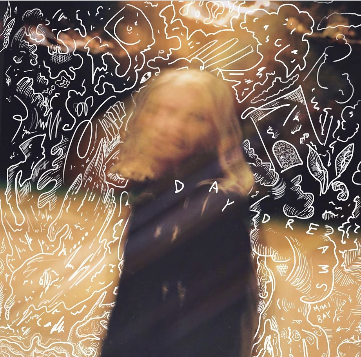 The cover depicts Mimi Bay as a blurry illusion and the cover exemplifies her scattered daydreams and the ethereal quality of her songs. Bay released her newest album daydreams on Nov.15. Photo Courtesy of Mimi Bay.