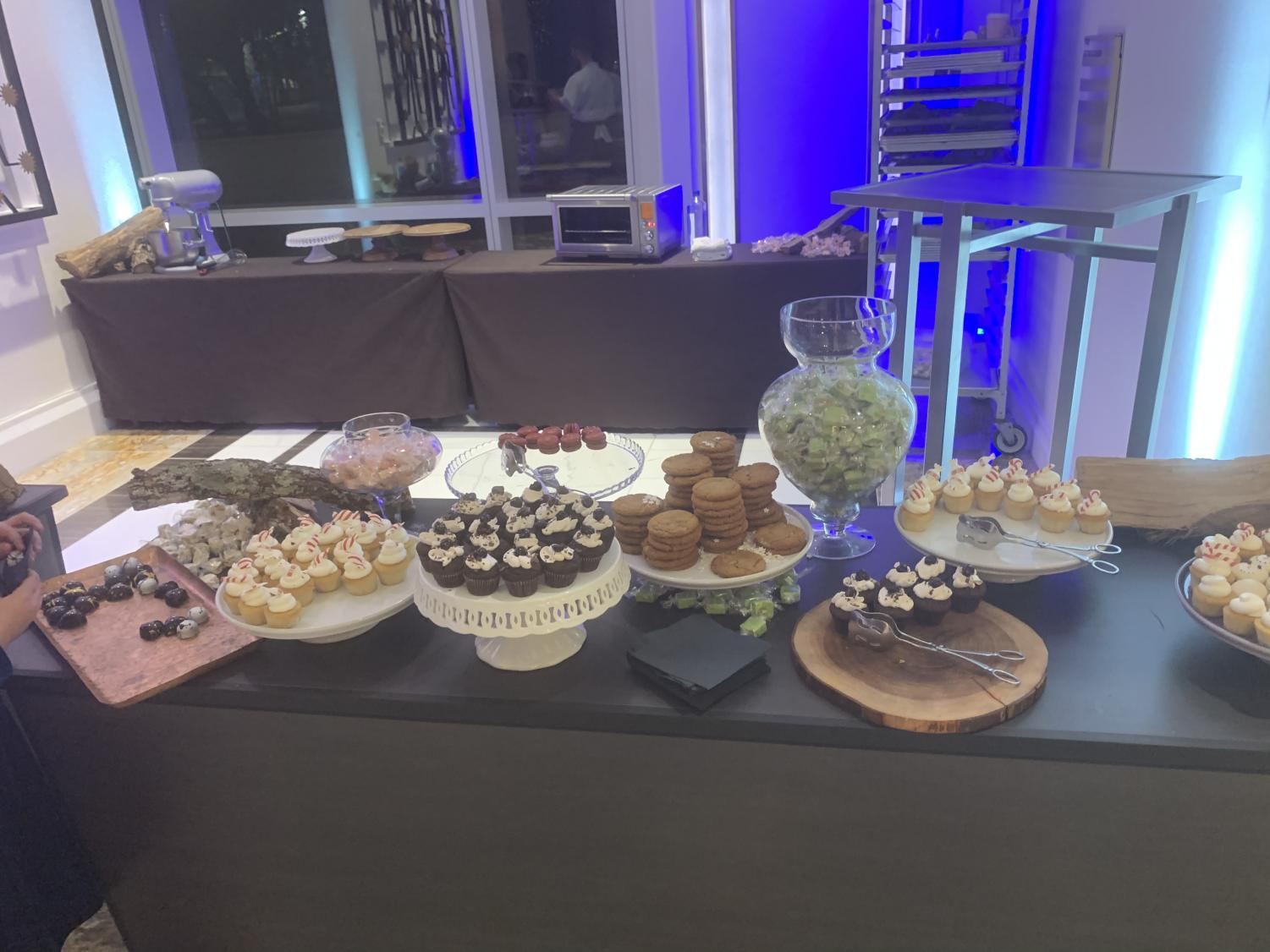 An+array+of+desserts+graced+the+lobby+for+guests+to+enjoy.++The+were+various+options+and+they+constantly+needed+to+be+refilled%2C+as+they+kept+running+out.
