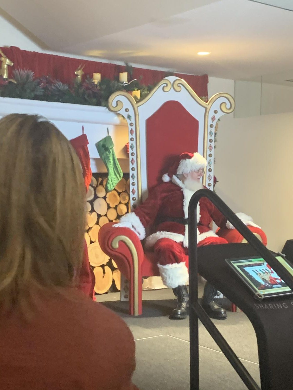 One+of+the+most+looked+forward+to+things+on+the+agenda+was+getting+a+picture+with+Santa.++The+line+wrapped+around+the+whole+floor%2C+filled+with+mostly+eager+little+kids.