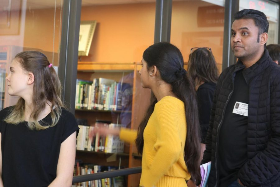 On the tour, some groups had the chance to look at the Great Room. In one group, the new Flex system and the benefits that it provides students was brought up.