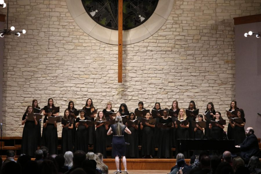 Concert Women perform 'The Bells' and 'Winter Dreams' for the Winter concert.