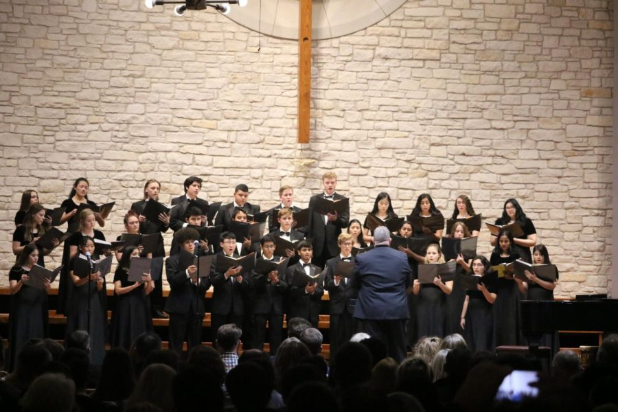 Westwood's Chorale choir sings 'Brightest and Best' and 'Blow, Blow Thou Winter Wind'.