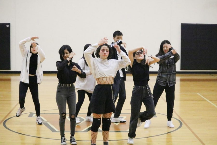 Members of the KPop Club dance to 'Jopping' by SuperM. SuperM is a new KPop boy band that was formed this year.