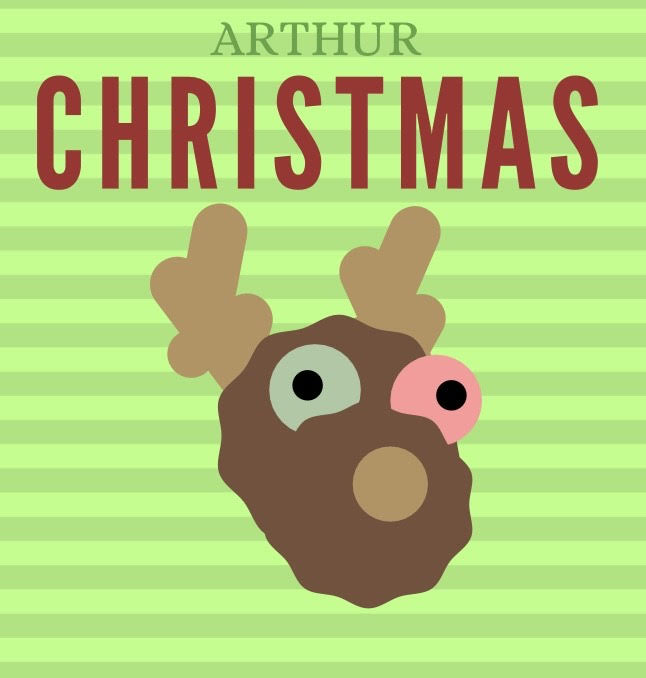 In Arthur Christmas, the main character has a pair of glowing reindeer slippers over stripped socks on at all times, which really captures Arthur's Christmas spirit. Graphic by Maya Gangadharan.