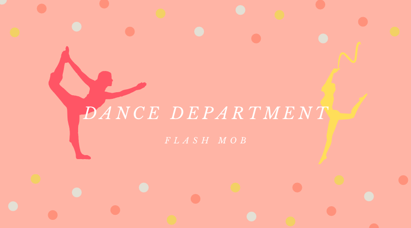 During both lunches, dance students put on a flash mob to attract interest in the dance department. Graphic by Keana Saberi.