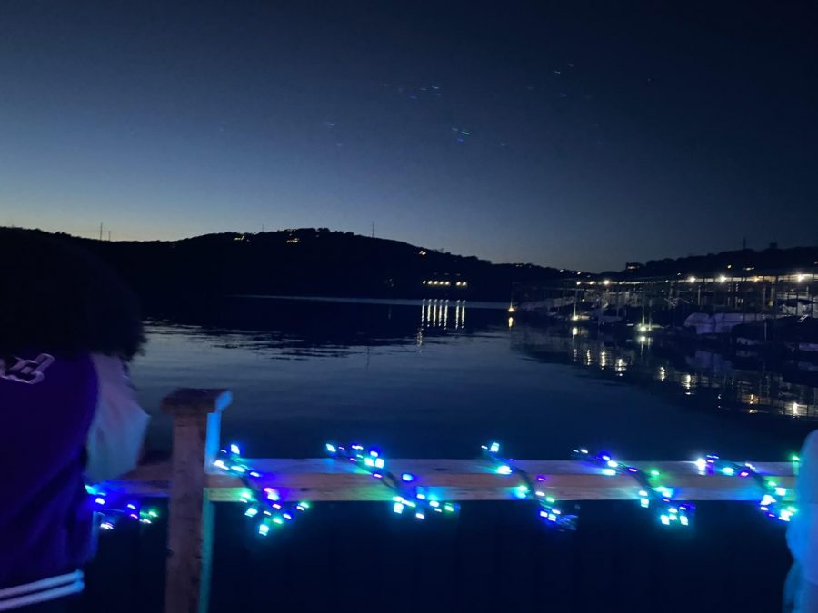 Viewers can also enjoy the lights along with a beautiful view of Lake Austin.