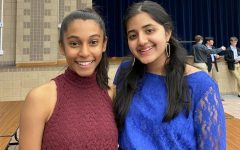 Apoorva Gobburu '22 and Devanshi Verma '22 pose prior to performing. Both soloists advanced to state Solo and Ensemble.