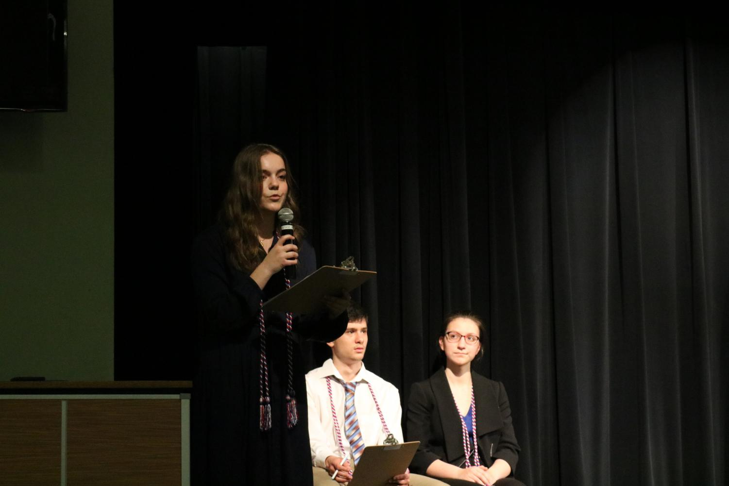 National+French+Honor+Society+Inducts+New+Members