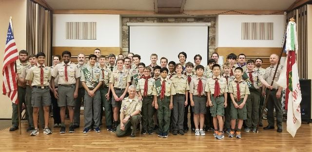 The+scouts+of+Troop+159+at+the+semi-annual+Court+of+Honor.+Photo+courtesy+of+Christopher+Perkins.