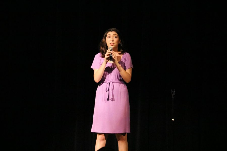 Katya Lopez '20 performs a cover of 'The Wizard and I' from the broadway musical Wicked.
