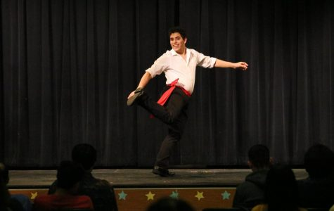 Bringing Greece to Austin, Costaki Skevofilax '20 performs a Greek dance.
