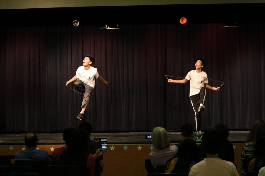 Cassidy Lee '21 and Aiden Lee '20 show off their Chinese YO-YO skills. They performed to the song 'Delirious'.