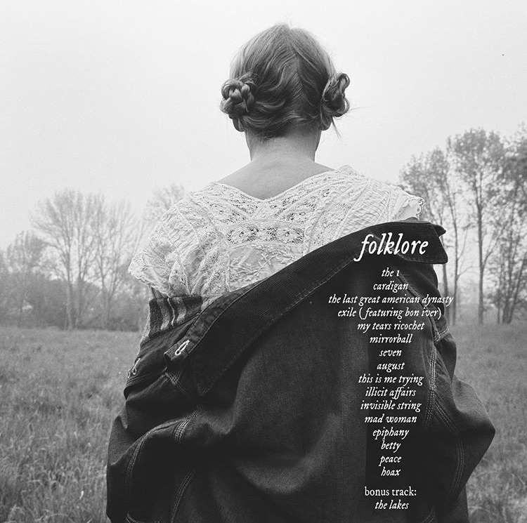 A day before releasing 'folklore', Taylor Swift posted this image on her Instagram, which included the discography of her album. The songs on it were vastly different from what she has sung before, but still paid homage to her past experiments in music. Overall, listening to 'folklore' was a wonderful experience that deserves to be repeated, considering how well Swift's talent shines through. Photo Courtesy of @taylorswift