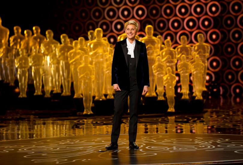 Ellen Degeneres hosting the 86th Oscars Opening Ceremony in 2014. Photo Courtesy of Walt Disney Television