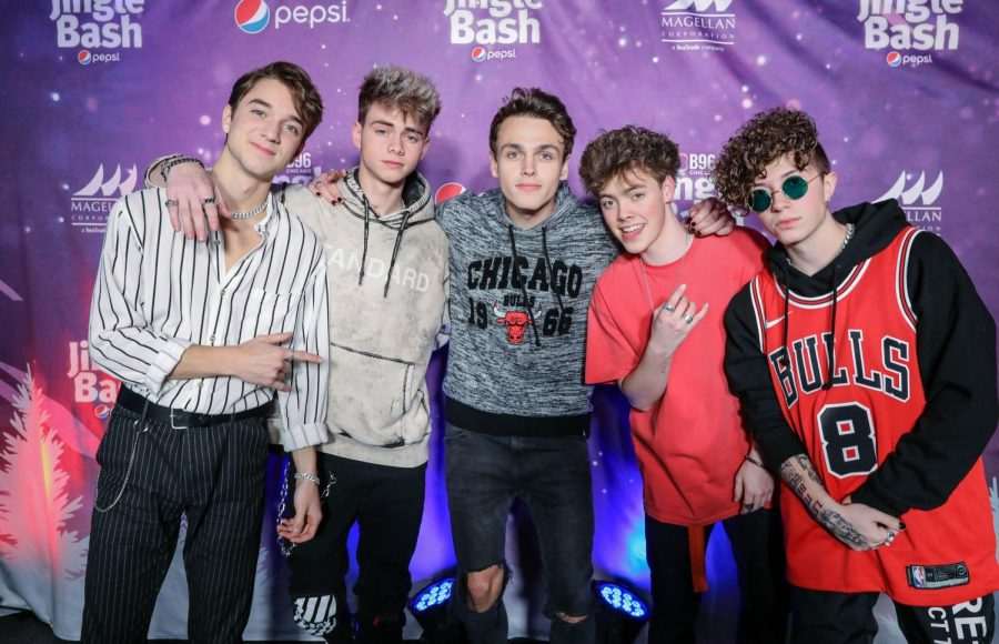 'Why Don't We' poses at the Pepsi Jingle Bash in 2018 before their performance. Photo courtesy of Alex Goykhman.