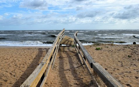 A boardwalk destroyed in the aftermath of Hurricane Irma in September 2017.