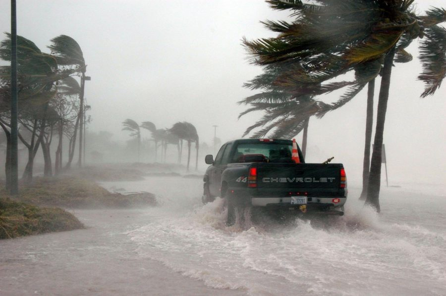 Aftermath of Hurricane Dennis in 2005 leaves strong winds and flooding.