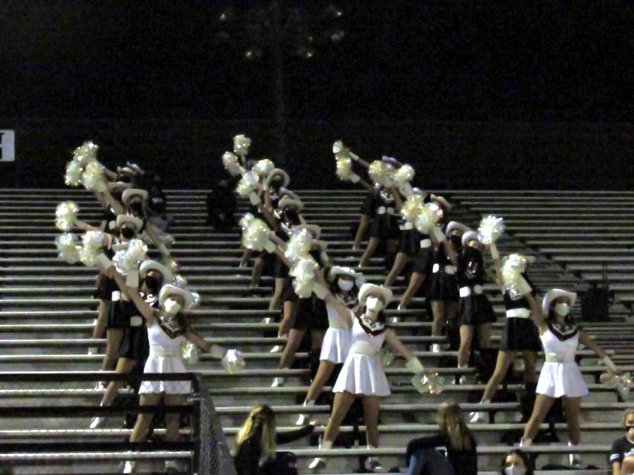 The Westwood Sundancers dance to the band's song of celebration. The song was played for Westwood's first touchdown of the game.