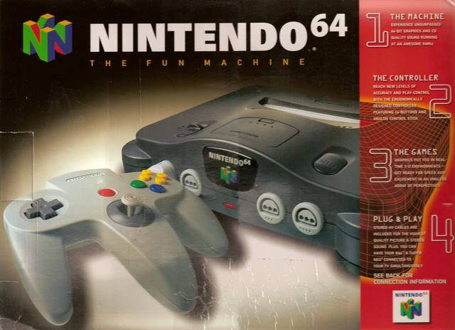 The iconic box art of the Nintendo 64. Photo Courtesy of retrojunk.com