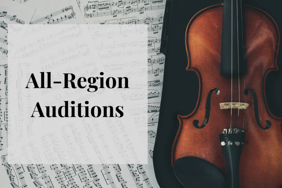 Orchestra students virtually auditioned for the All-Region Orchestra from Oct. 3 to Oct.7. Graphic by Nashitha Azeez
