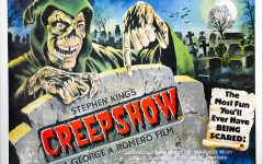 The British poster for 'Creepshow' showcases the ghoulish mascot and the iconic tagline. Image courtesy of Film on Paper.
