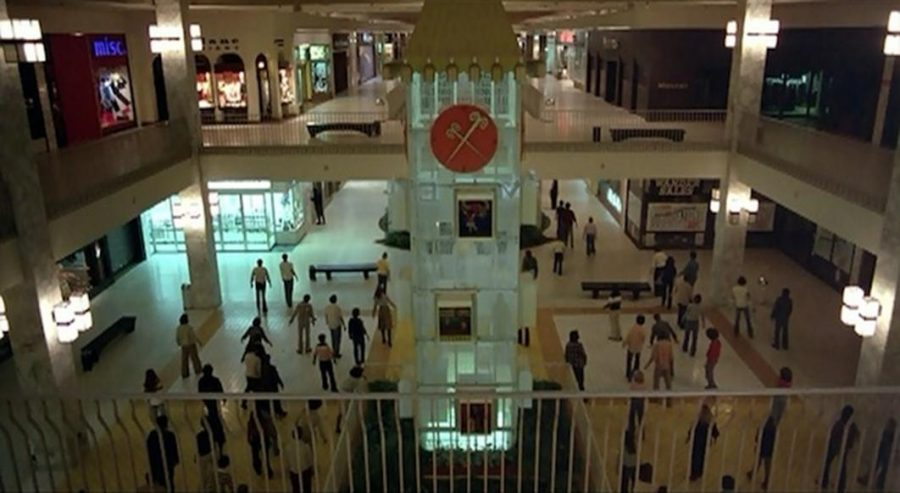 Zombies swarm the clocktower in the Monroeville Mall.Photo Courtesy of IMDB