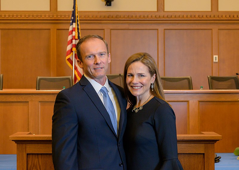 Amy Coney Barrett is President Donald Trumps Supreme Court nominee. She prides herself on being a originalist, which seems counterintuitive considering how much America has changed since the constitution was first written. Her ideals will ultimately end up harming the American people. Photo courtesy of Julian Velasco.