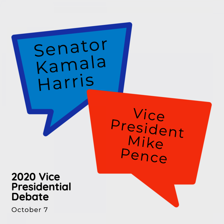 Vice+President+Mike+Pence+and+California+Senator+Kamala+Harris+faced+off+in+the+first+and+only+Vice+Presidential+debate+on+Oct.+7.
