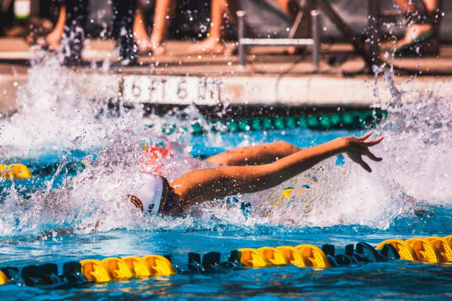 Body-lengths ahead of the competition, KyAnh Truong '21 races to 1st place in her 100 yard freestyle with a time of 51.71. Truong is set to compete in the US Open Championships next weekend against current and future olympians.