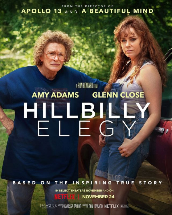 Ron Howard's new film 'Hillbilly Elegy' debuted on Nov. 24 to incredibly mixed reactions. Photo courtesy of @netflix.